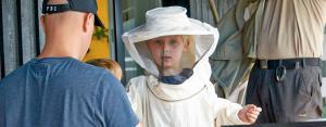 Klar til besøg hos bierne