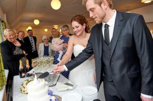 Brudepar & bryllupskage