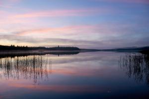 Solnedgang over Salten Langsø